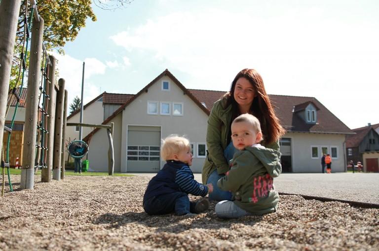Antonia Fiebrich mit Kinder